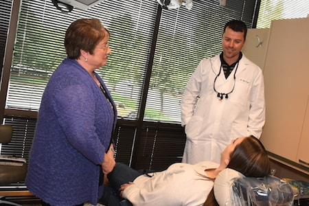 Dr. Dan Frost and Sandy task to an actual patient at their Redmond practice about Preventive Dentistry.